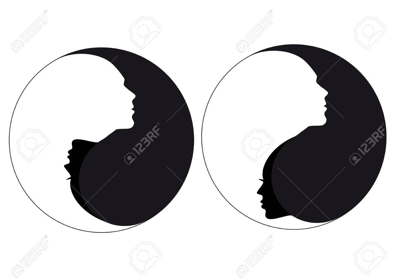 Yin yang symbol with man and woman royalty free cliparts vectors yin yang symbol with man and woman stock vector 85723429 biocorpaavc