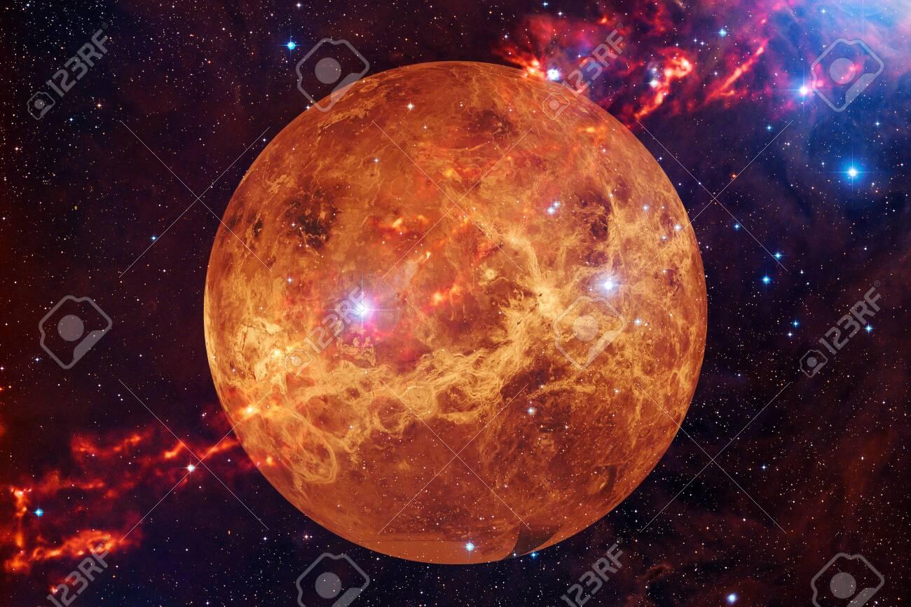 Planet Venus. Solar system. Cosmos art. - 149815365