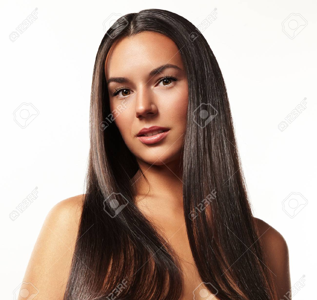 portrait of a beauty woman with a long hair - 34674682