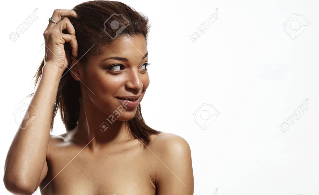 femme noir a poil