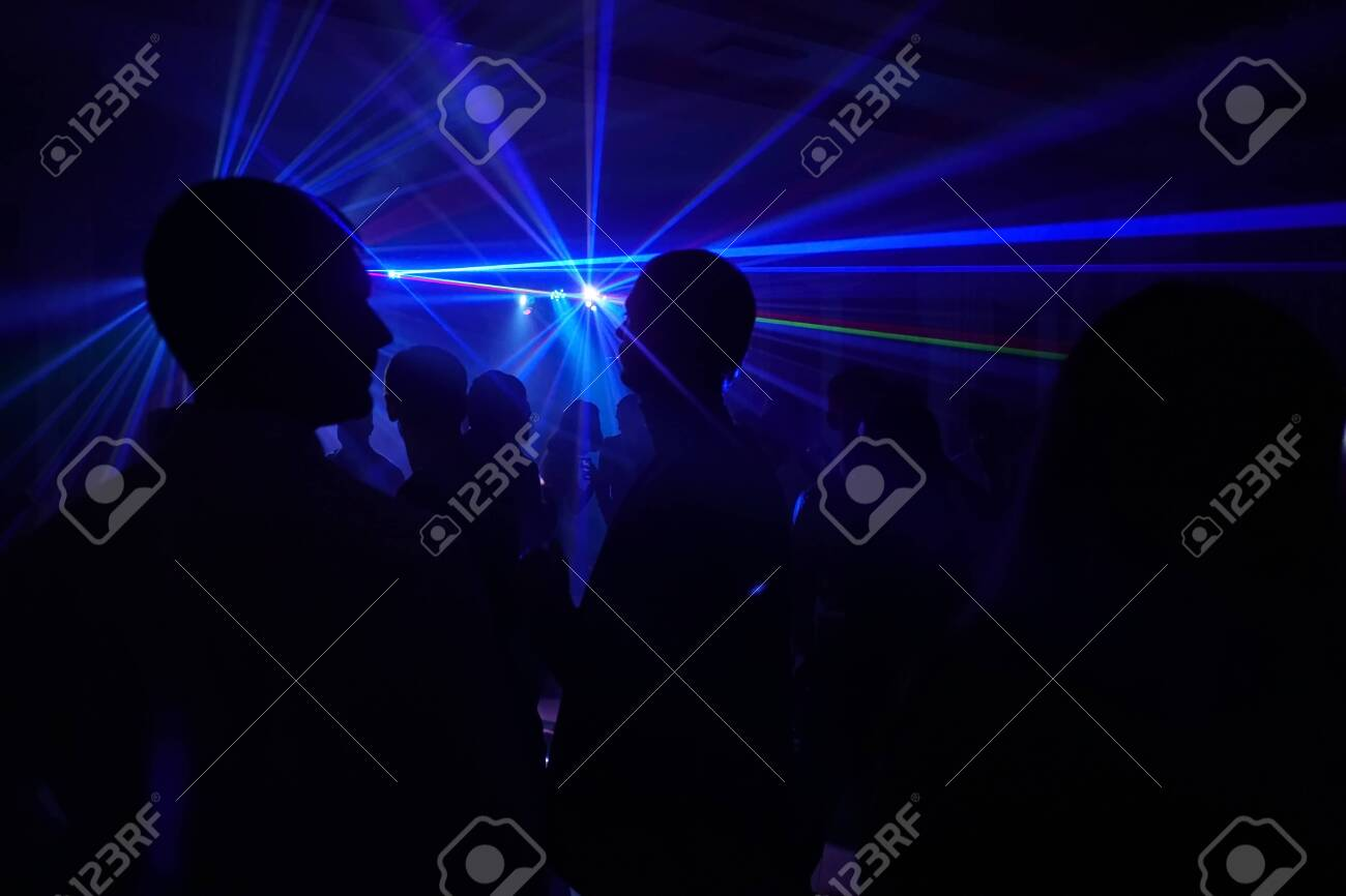 People on the laser party - 119490403