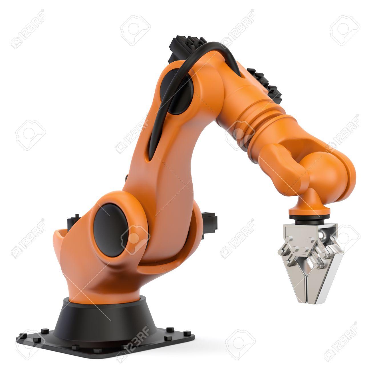 Souvent Très Haute Résolution De Rendu 3D D'un Robot Industriel Banque D  VX47