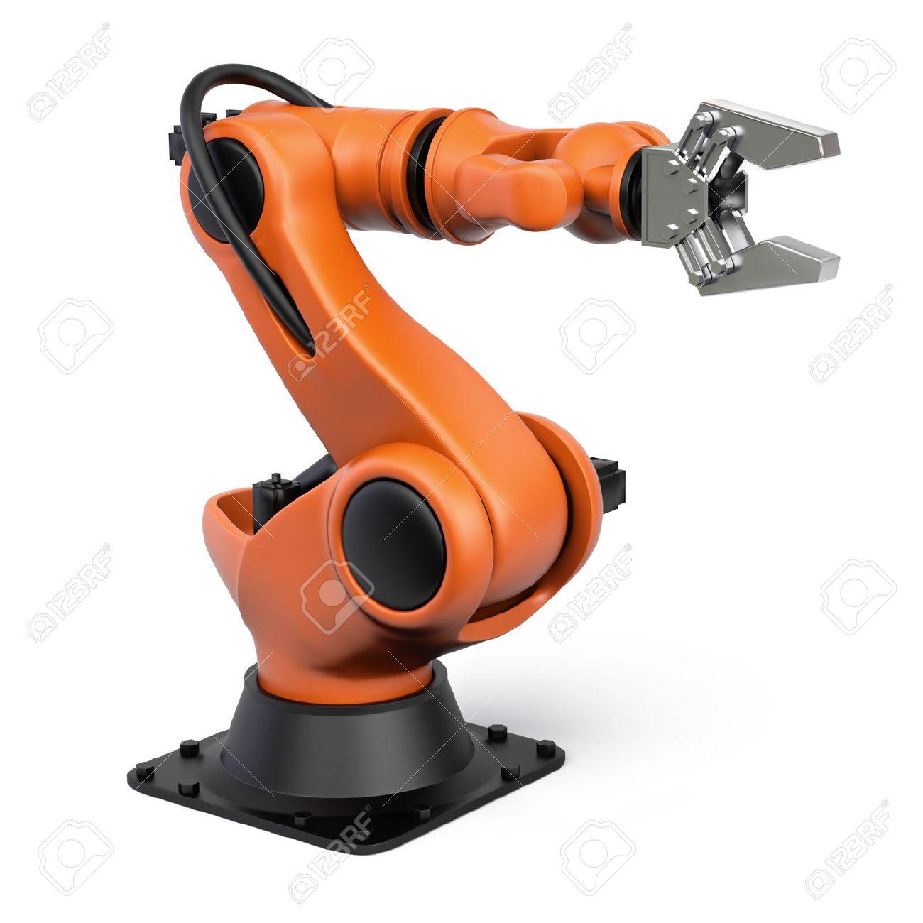 Souvent Très Haute Résolution De Rendu 3D D'un Robot Industriel. Banque D  VX47