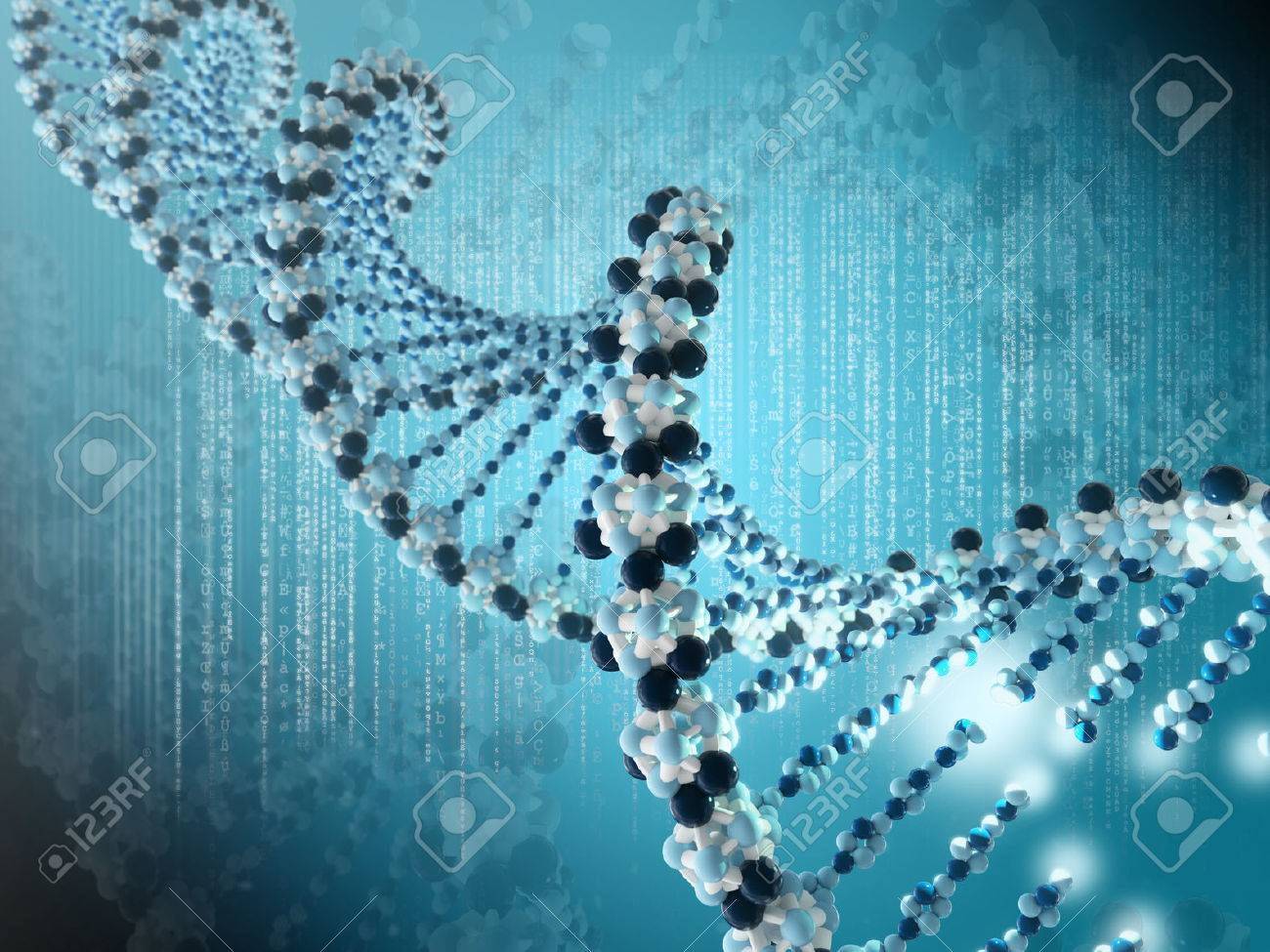 Very high resolution 3d rendering of a DNA spiral Stock Photo - 27548532