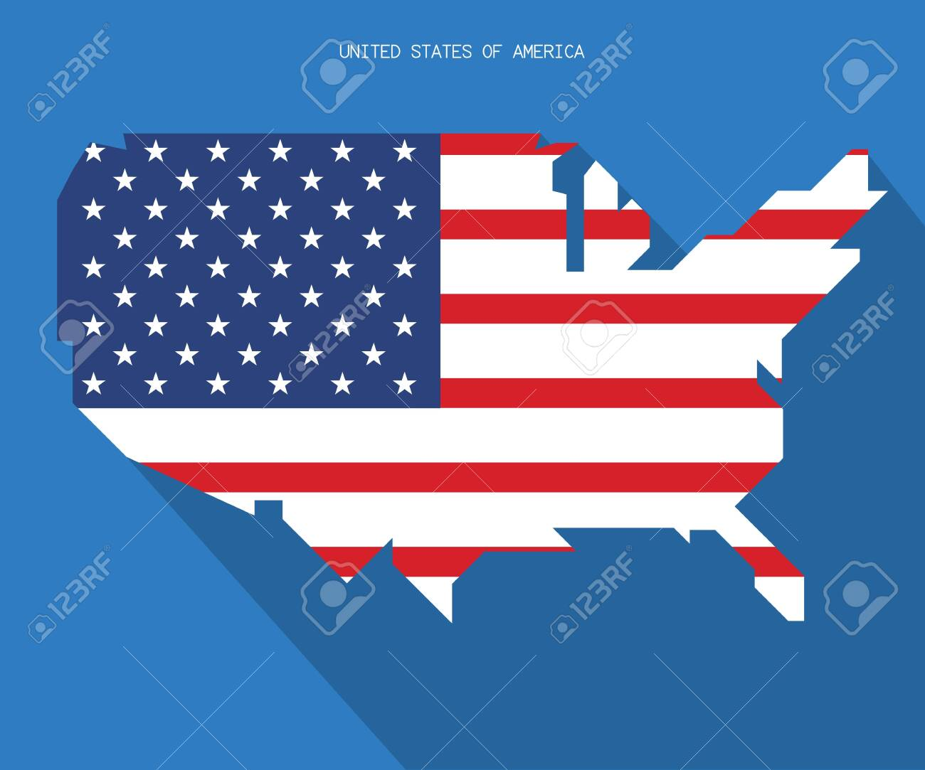 UNITED STATES OF AMERICA MAP, USA vector, Independence day background - 139064721
