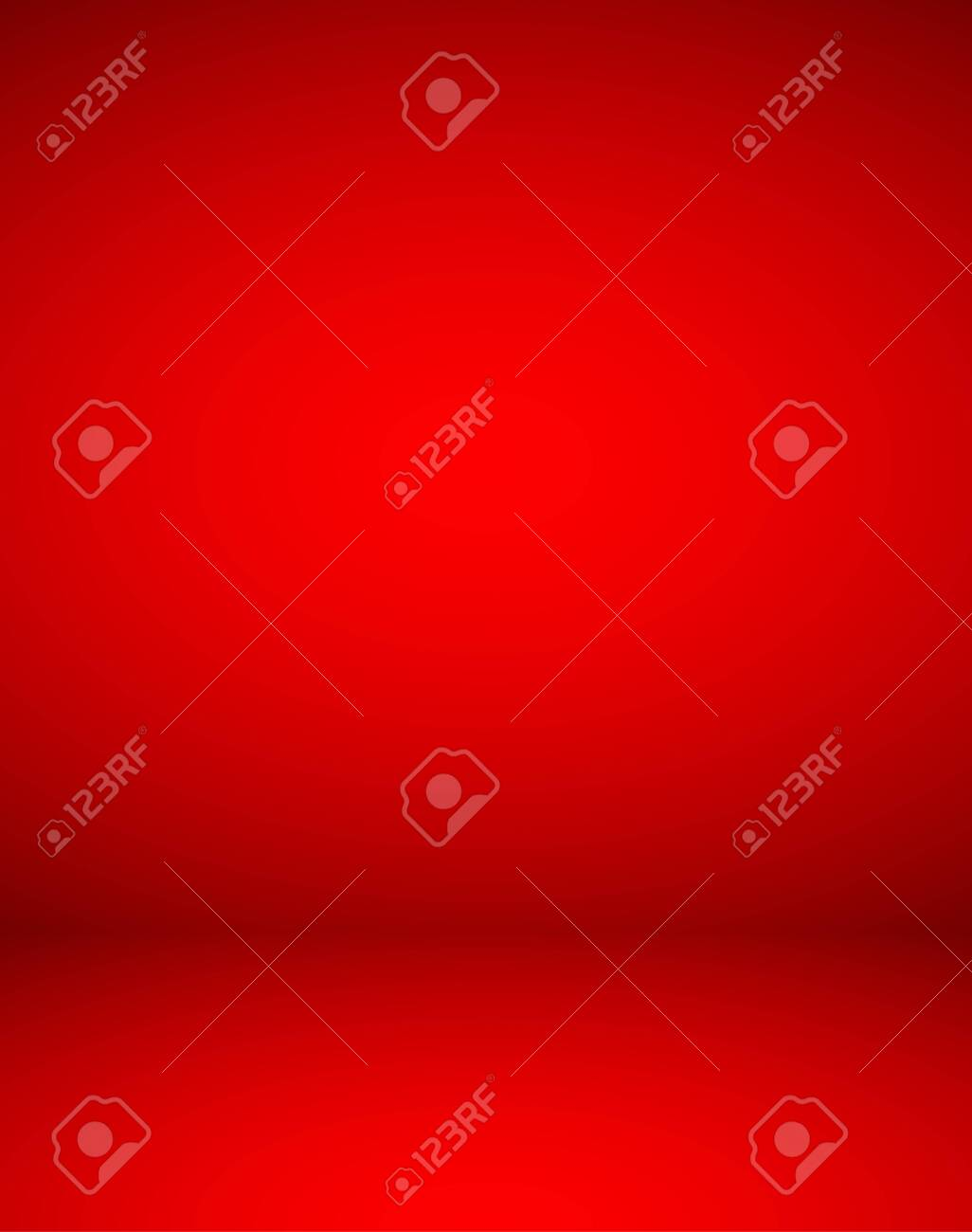Empty red color studio room luxury background. Abstract gradient red, used as background for display products design web template, Vector illustration - 148497815