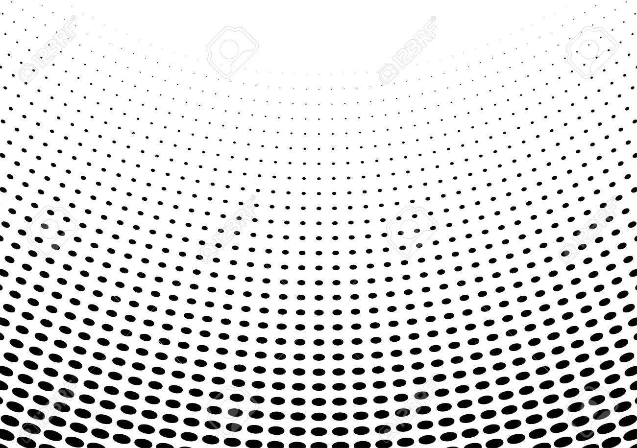 Abstract halftone dotted background. Futuristic grunge pattern, dot, wave. Vector modern optical pop art texture for posters, sites, business cards, cover, labels mock-up, vintage layout - 154191136