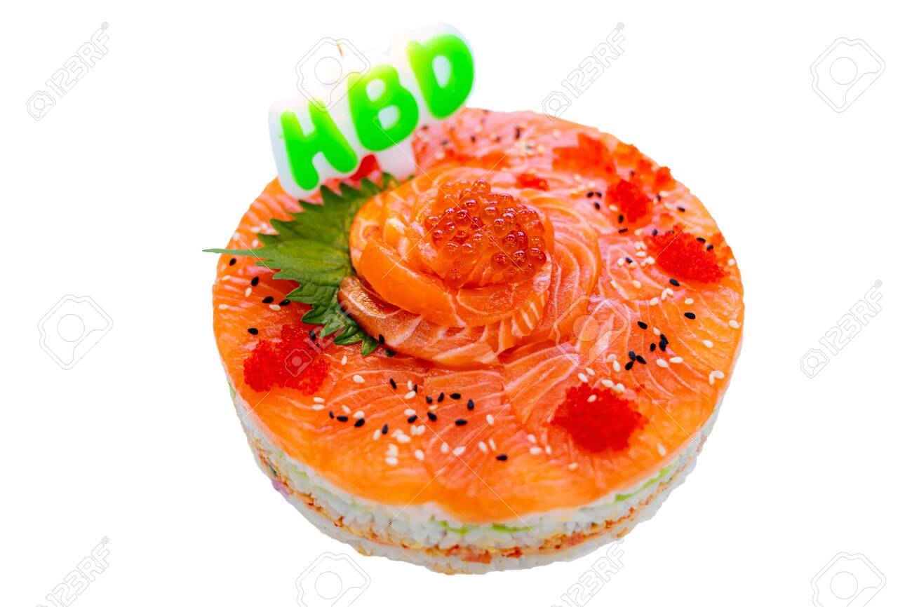 Swell Birthday Cake Made From Salmon Stock Photo Picture And Royalty Birthday Cards Printable Opercafe Filternl