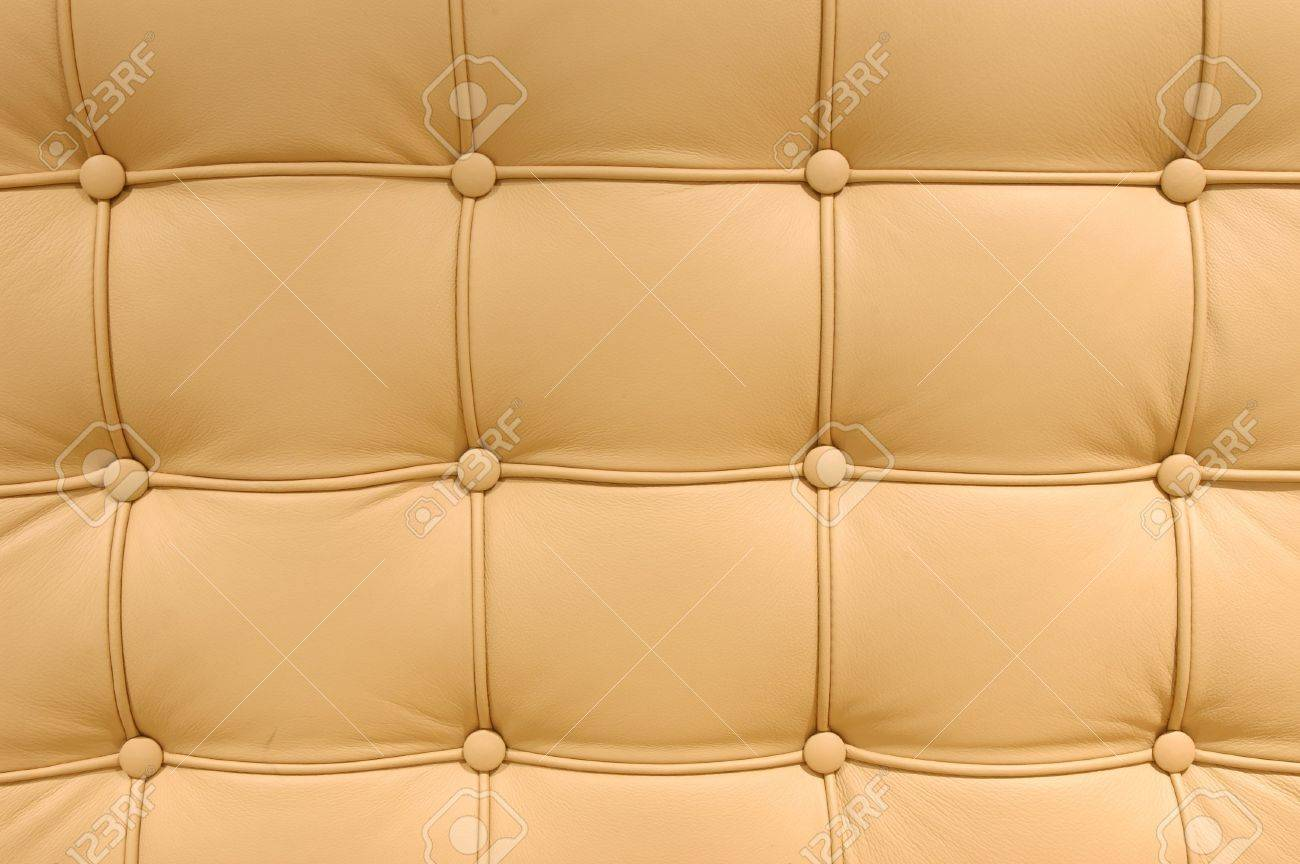 Leather cushion texture - Brown Button Leather Pattern Of A Sofa Stock Photo 862443