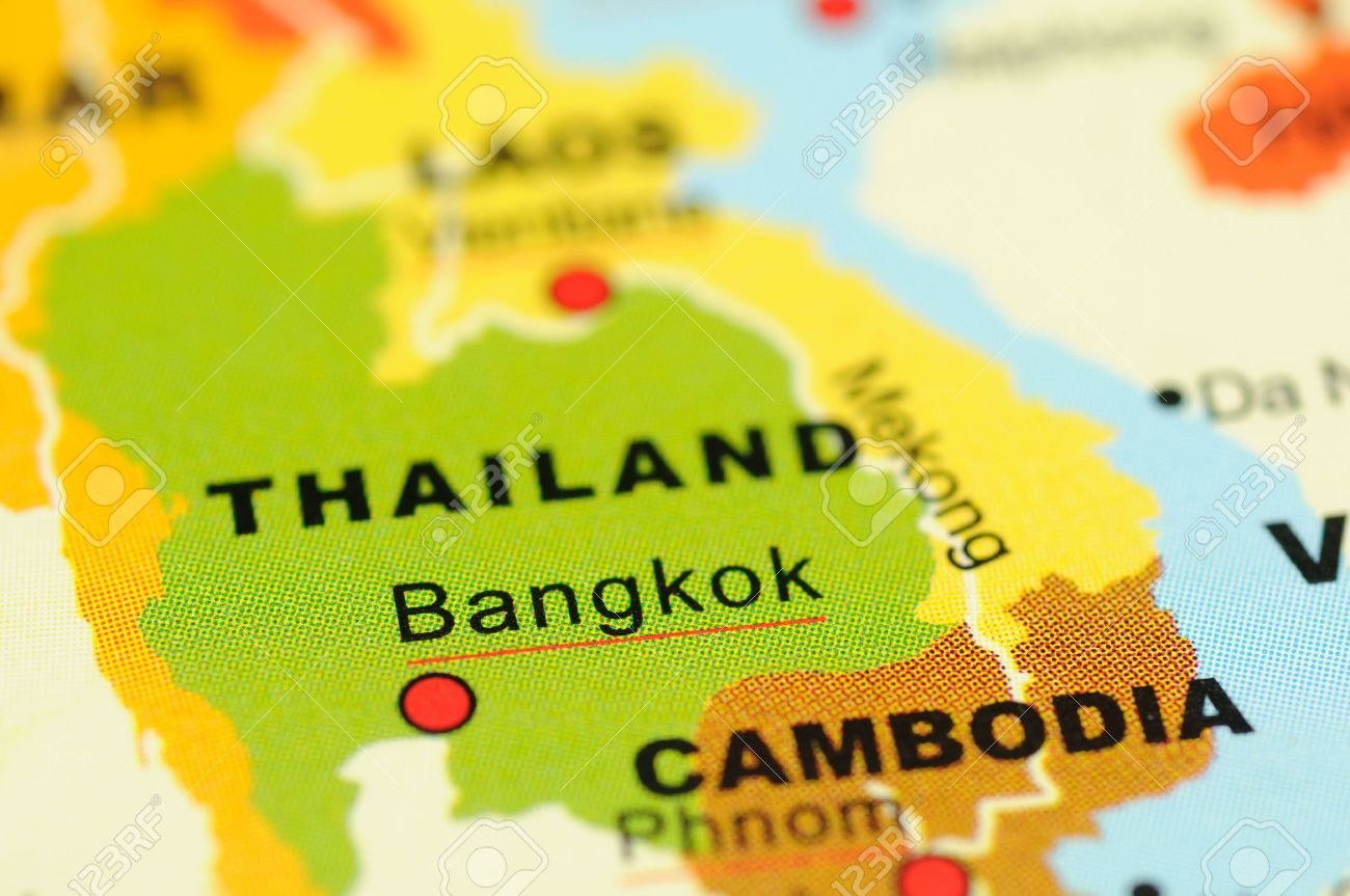 Close Up Of Bangkok, Thailand On Map Stock Photo, Picture And ...