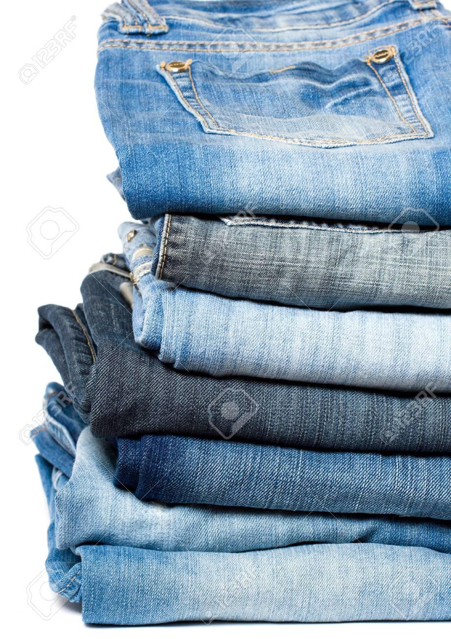Blue denim jeans. - 5514804