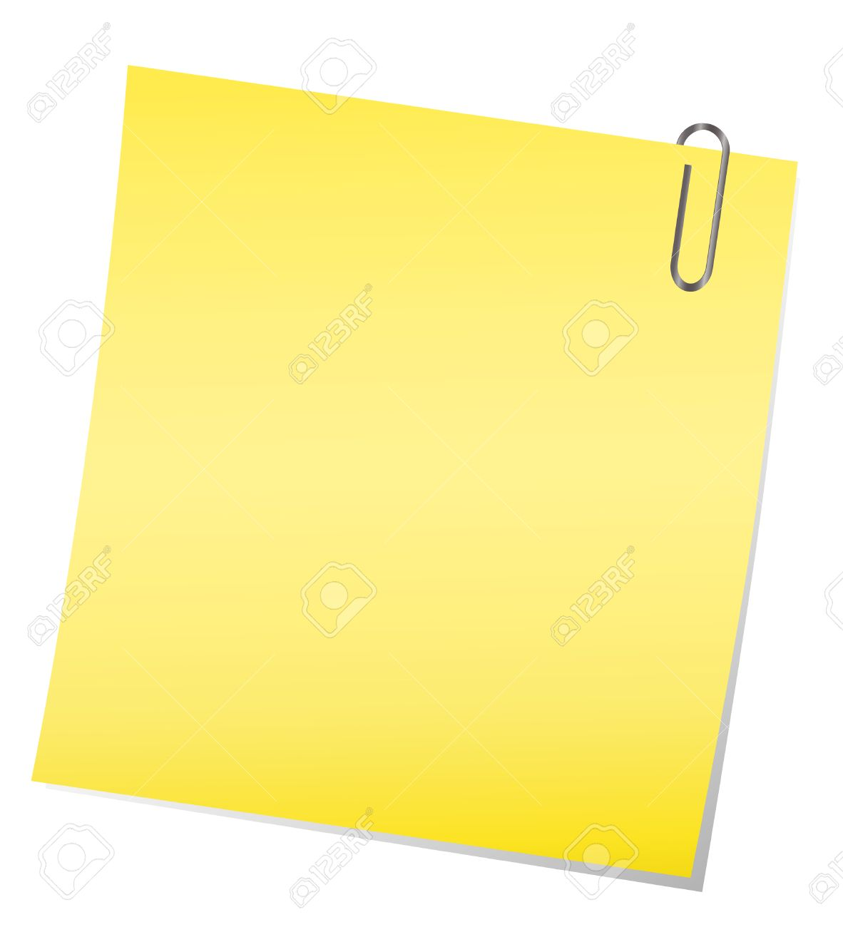 Free vector graphic sticky note note info paper free image on - Yellow Sticky Note With Paper Clip Stock Vector 6748082