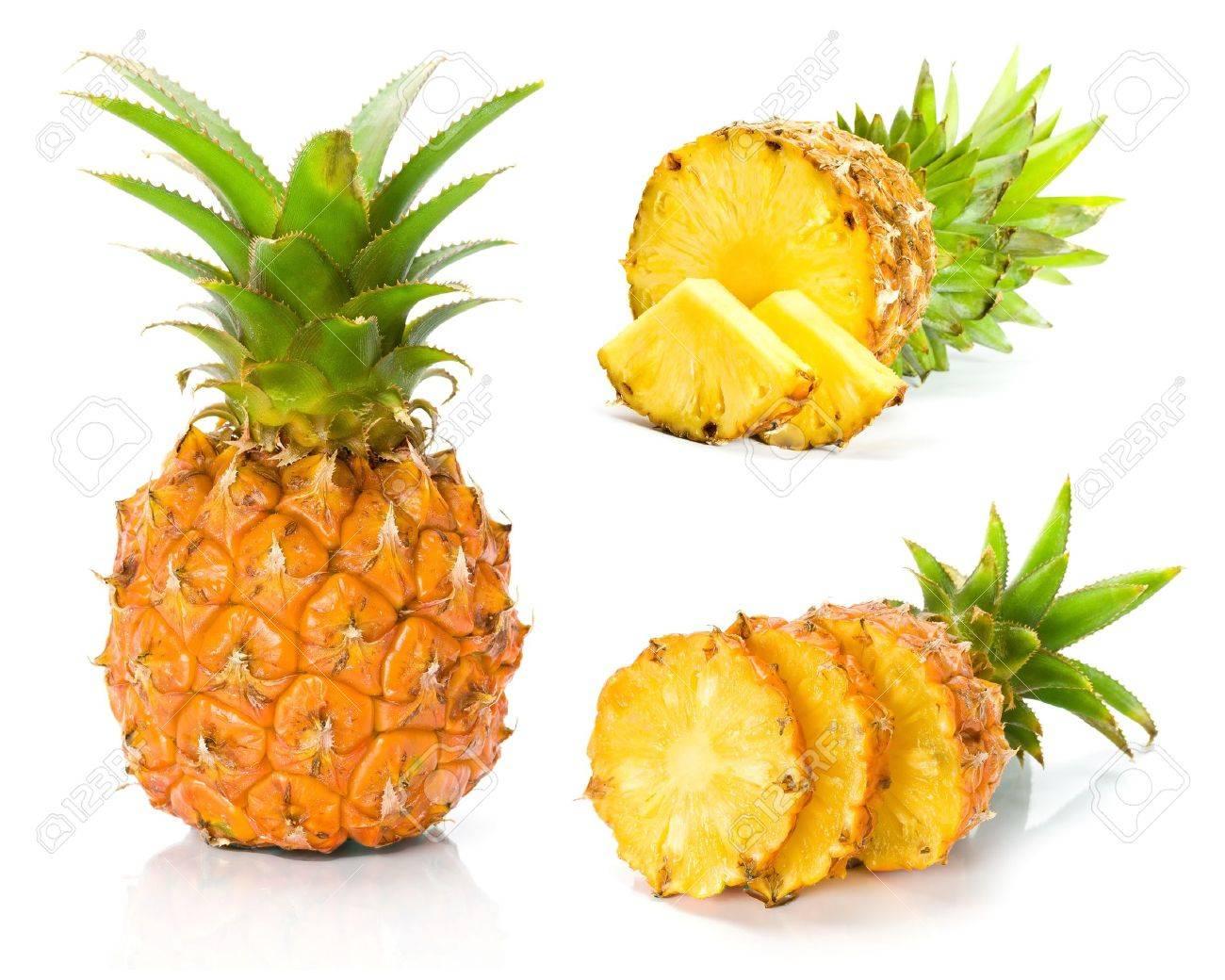 Fresh slice pineapple Stock Photo - 8875063