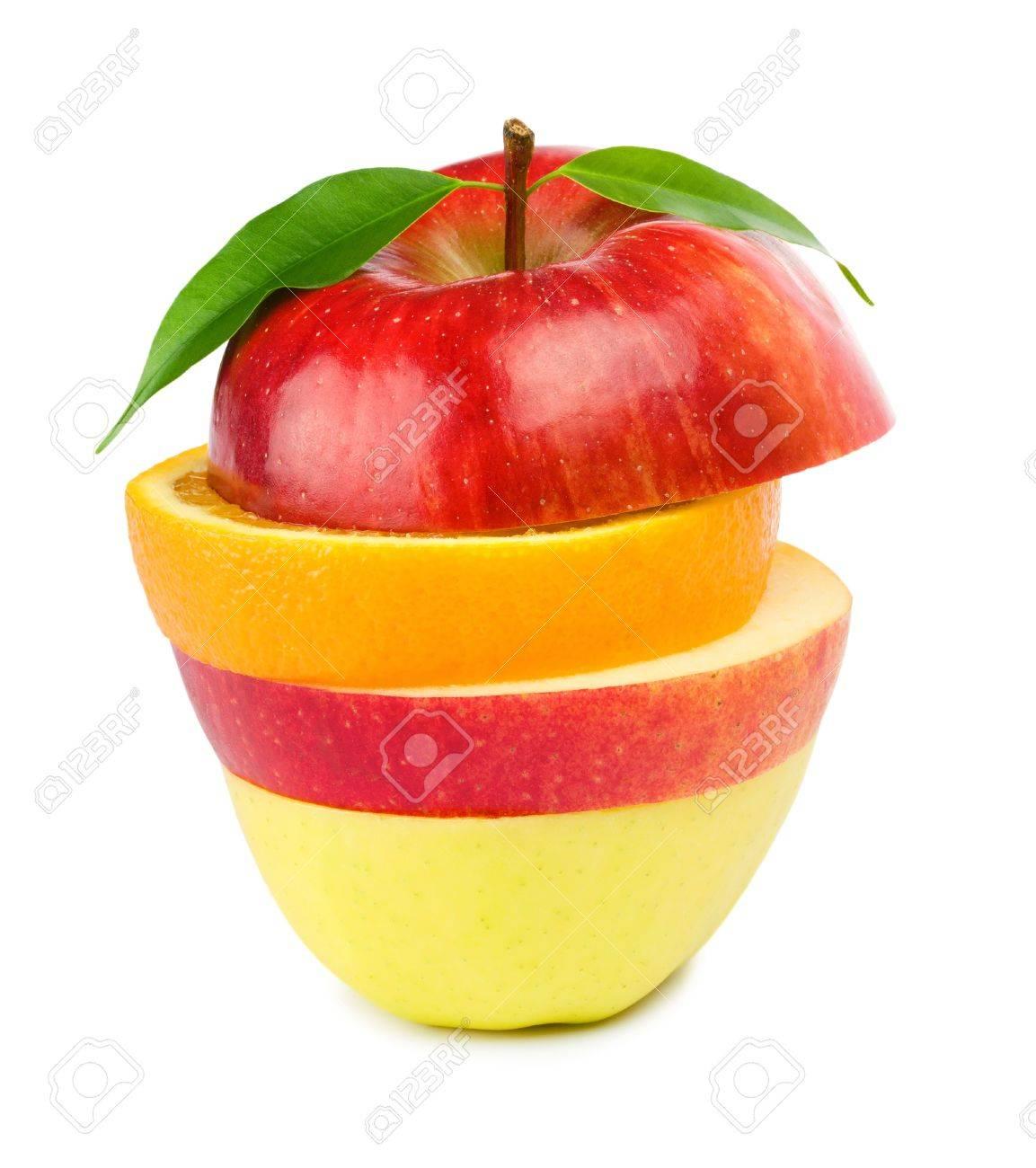 Fruit Mix. Isolated on white background. - 9039007