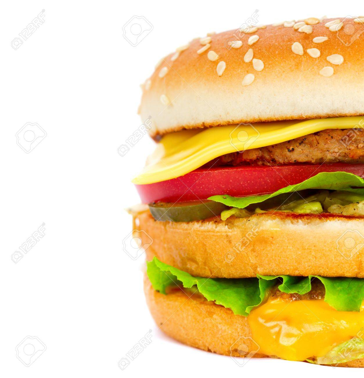 cheeseburger isolated on white - 9940052