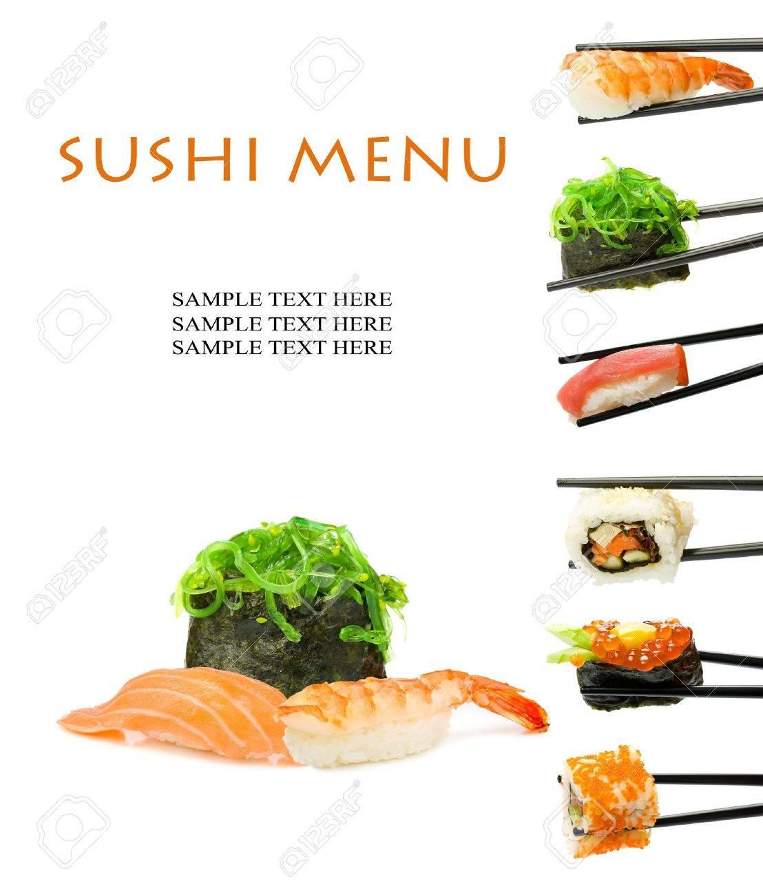 Sushi menu Stock Photo - 10627072