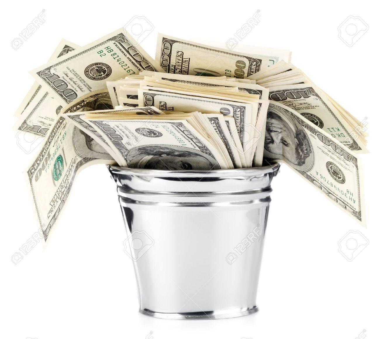 Dollar in pail - 11237092