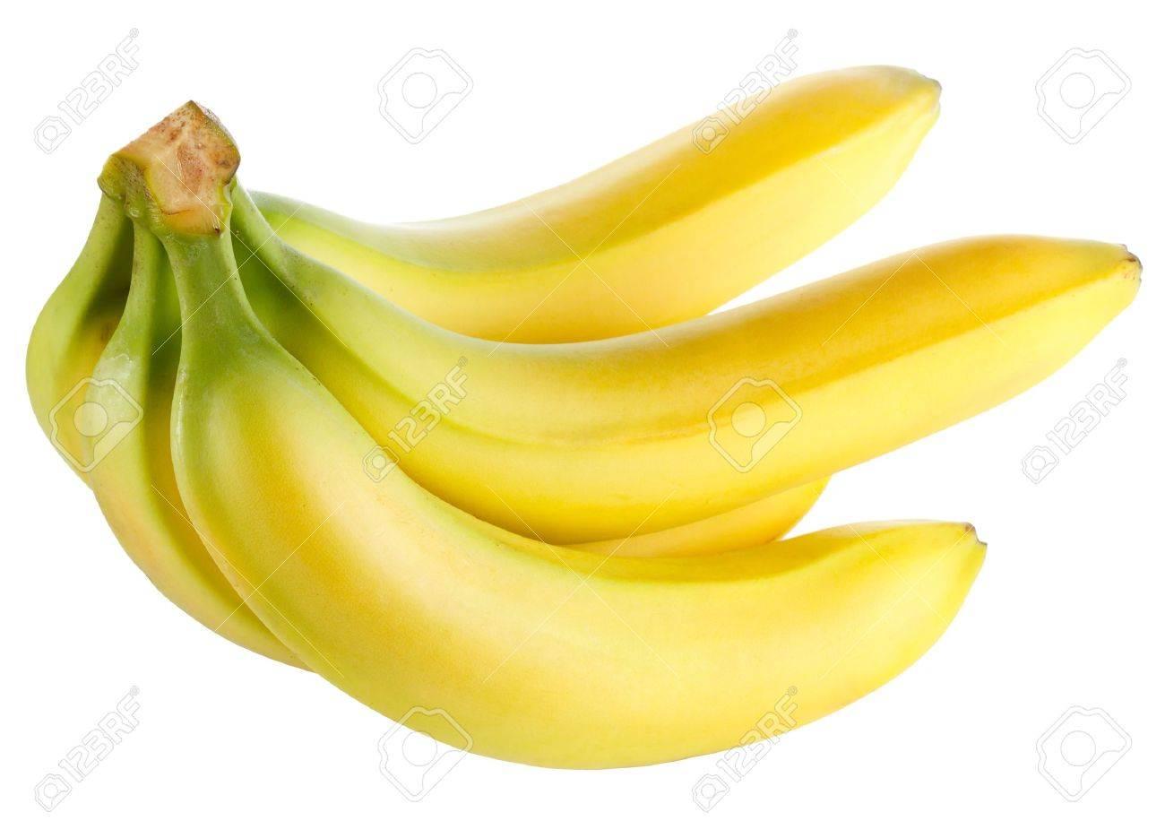 Ripe banana isolated on white background - 12021983