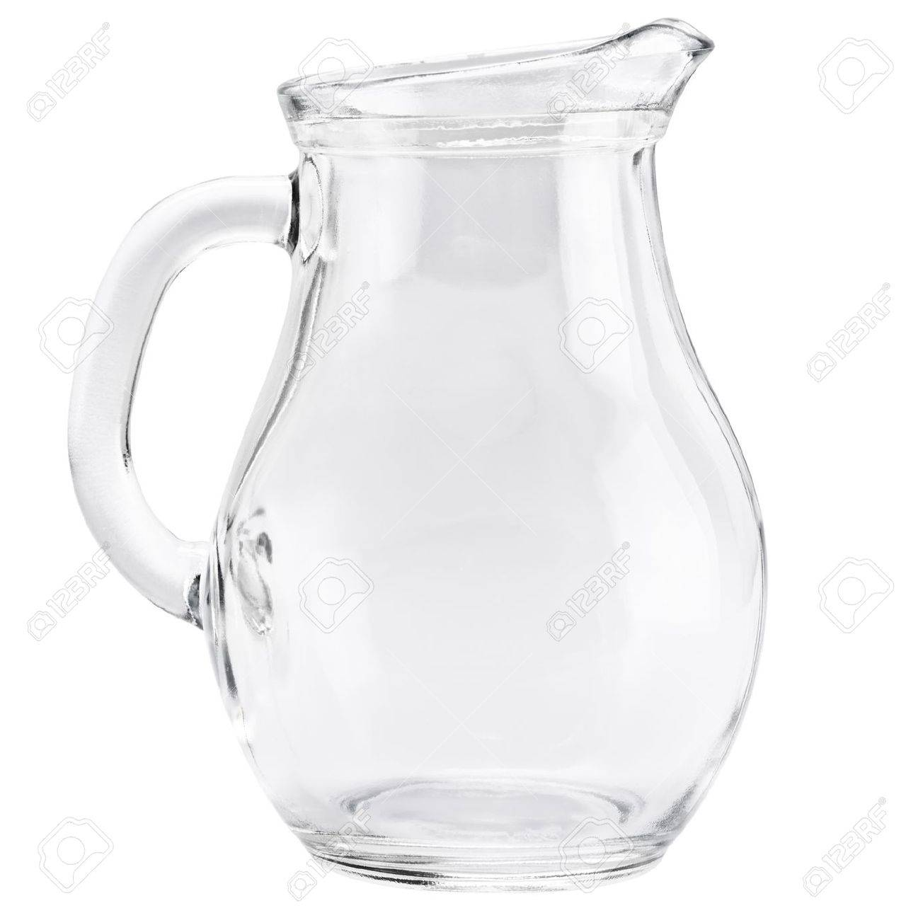 Glass jug isolated on a white background - 12975948