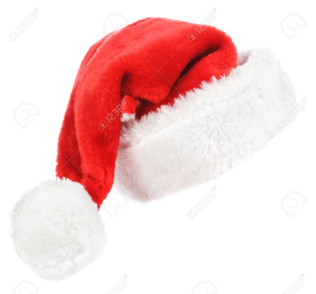 Santa red hat isolated in white background Stock Photo - 15783064