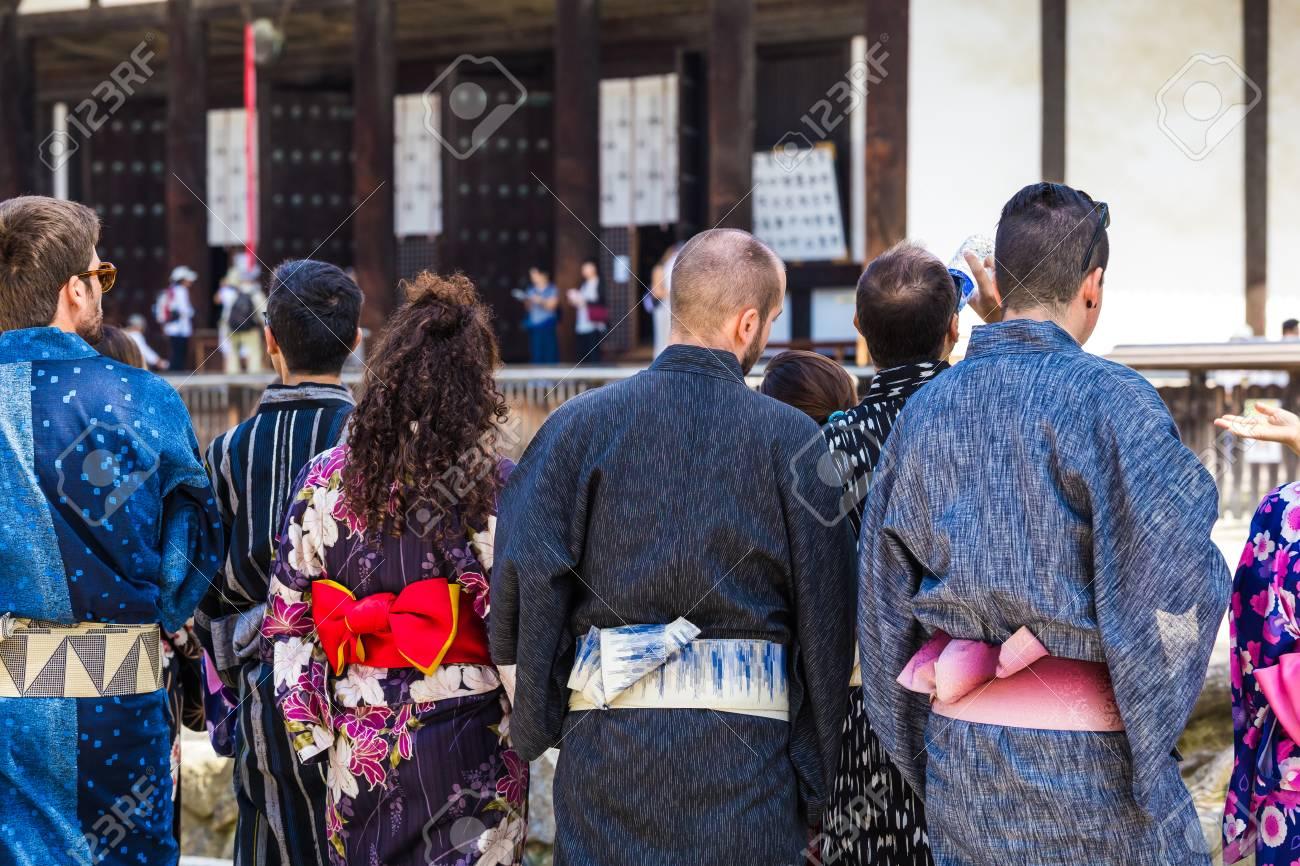 Foreigner wearing a japanese Yukata - 86531168
