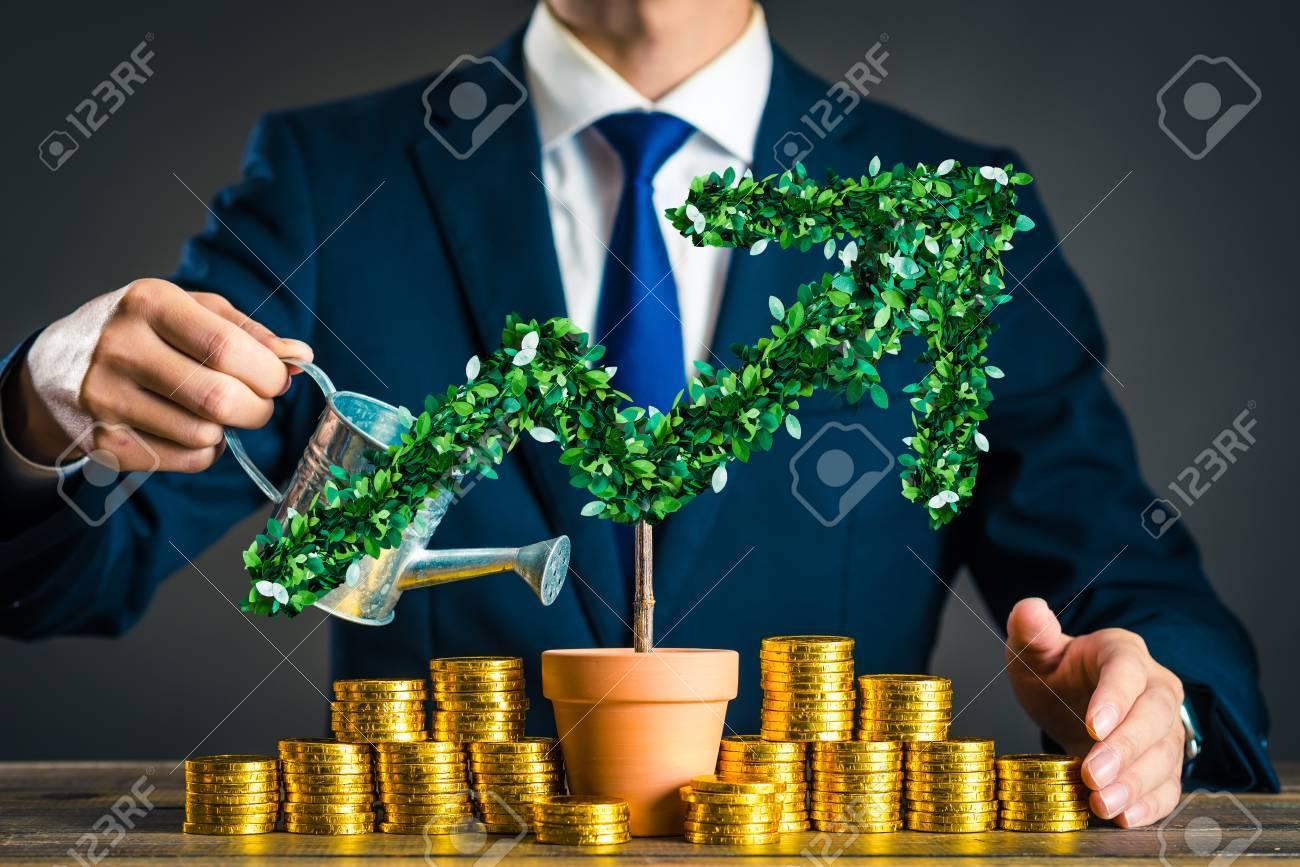 Businessmen with plants - 90264605