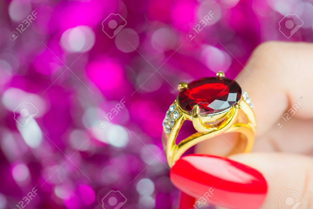 Women\'s Hand With Jewelry Rings Stock Photo, Picture And Royalty ...