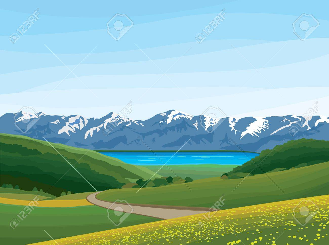 landscape Stock Vector - 17521820