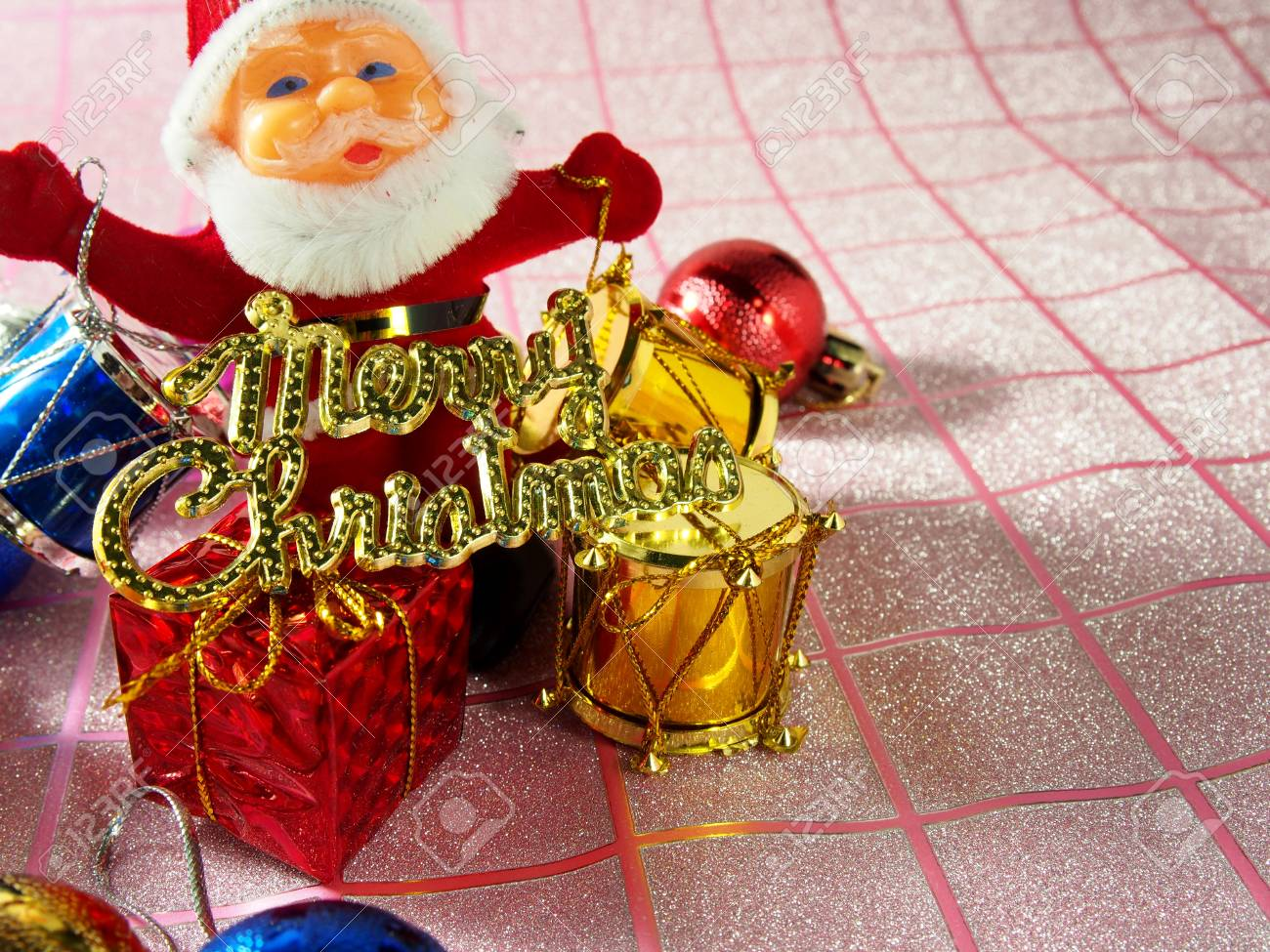 Weihnachtsmann Mit Merry Christmas, Golden-Tag Lizenzfreie Fotos ...