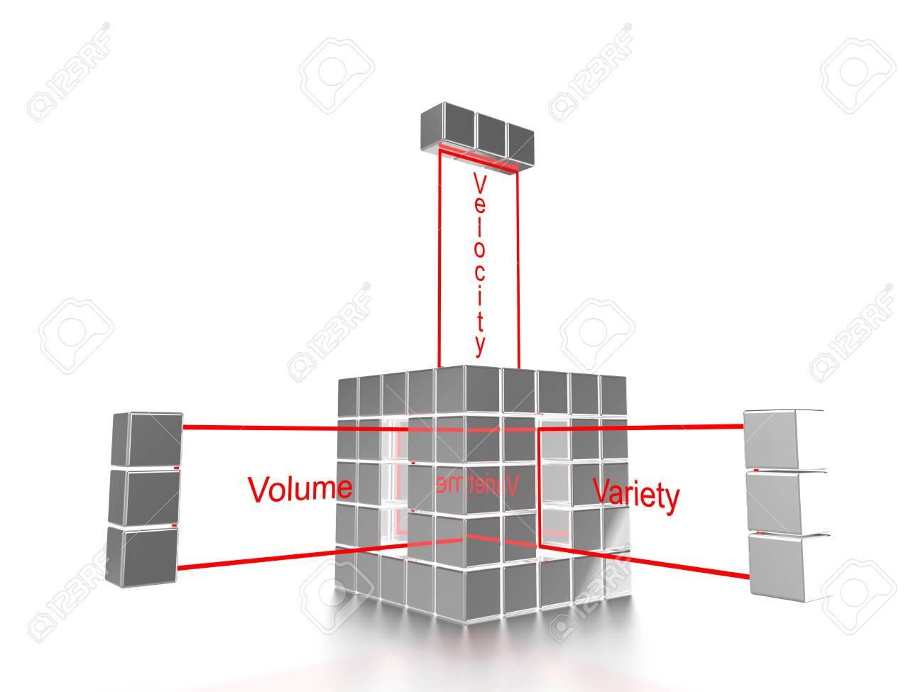 Plata Cubo Compuesto De Cubos Pequeños Y La Variedad Palabras, La ...