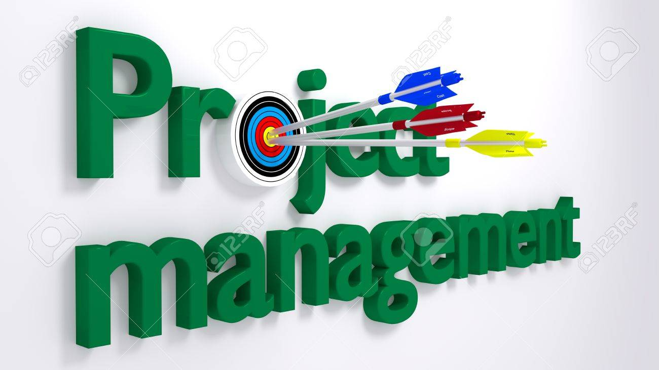 The Word Project Management Where The O Is A Target Hit By Three ...