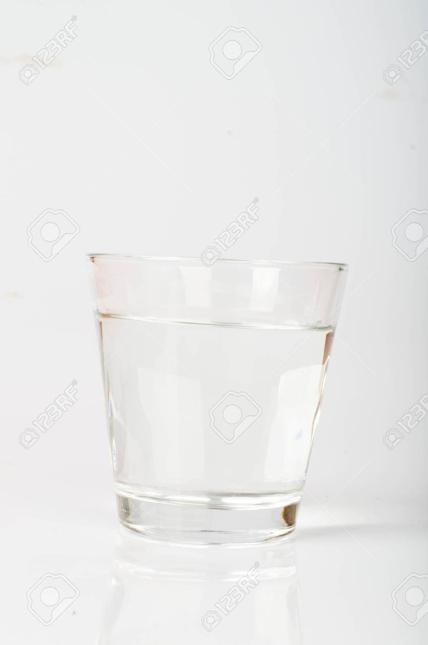 d56e8d6dd71 Glass of water isolated on white background Stock Photo - 14452301