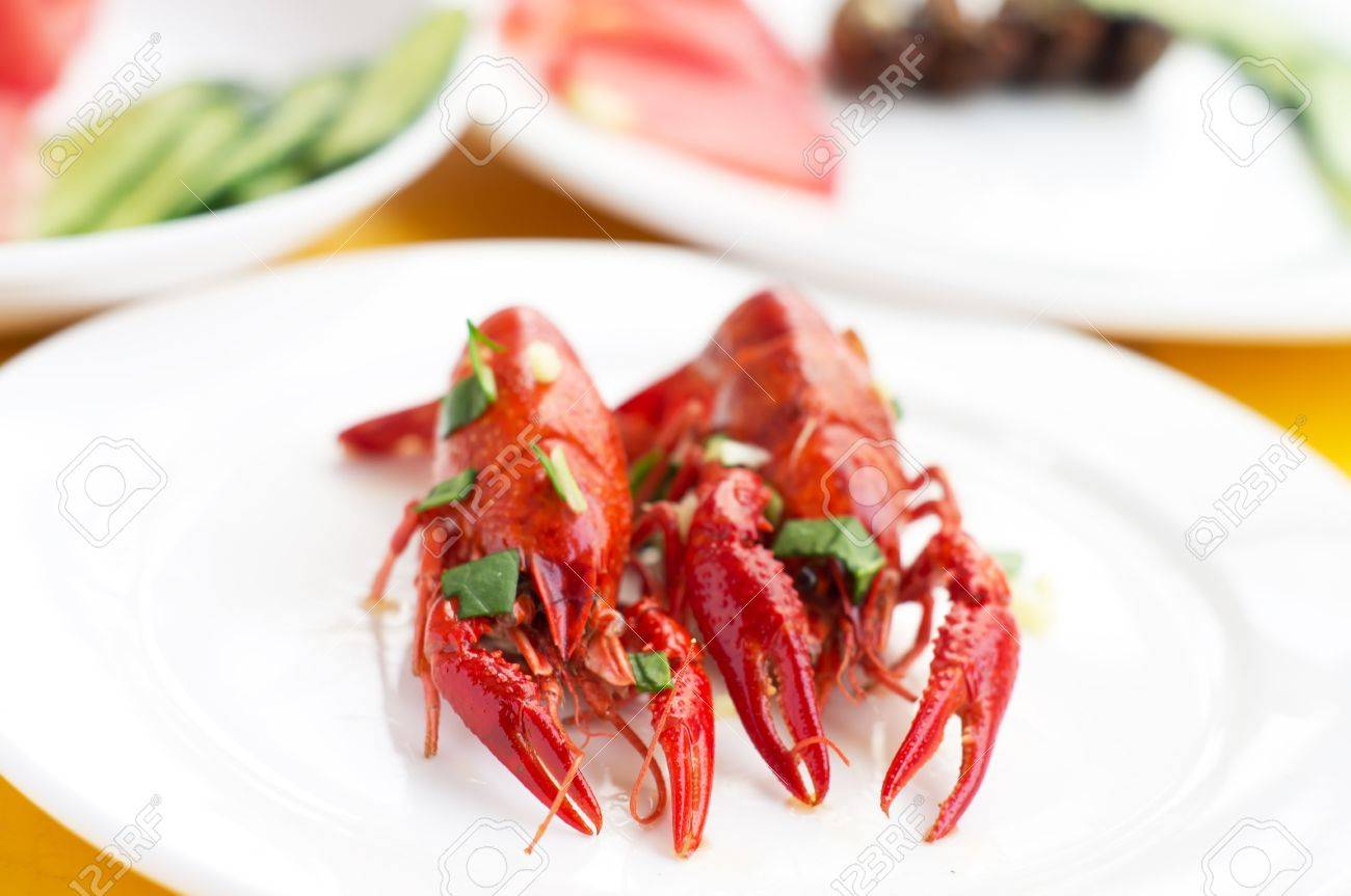 Fried Crawfish And Hearty Dishes Stock Photo Picture And Royalty
