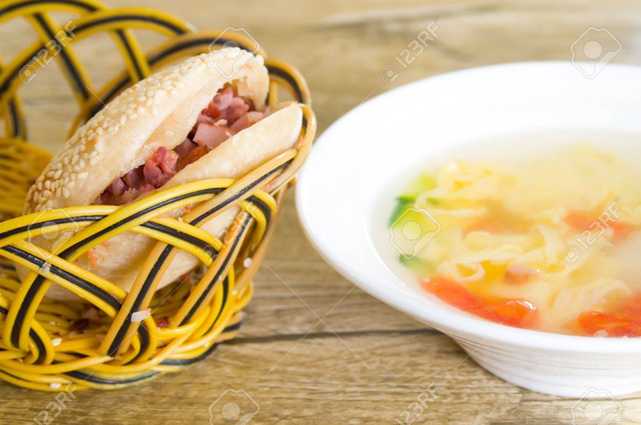 The chinese hamburger and egg soup stock photo picture and royalty stock photo the chinese hamburger and egg soup forumfinder Image collections