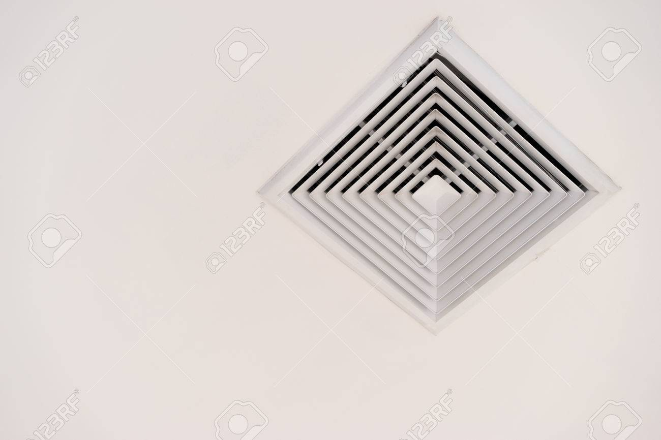 Modern air conditioner or air vent on ceiling with clipping path modern air conditioner or air vent on ceiling with clipping path and copy space stock photo buycottarizona Image collections