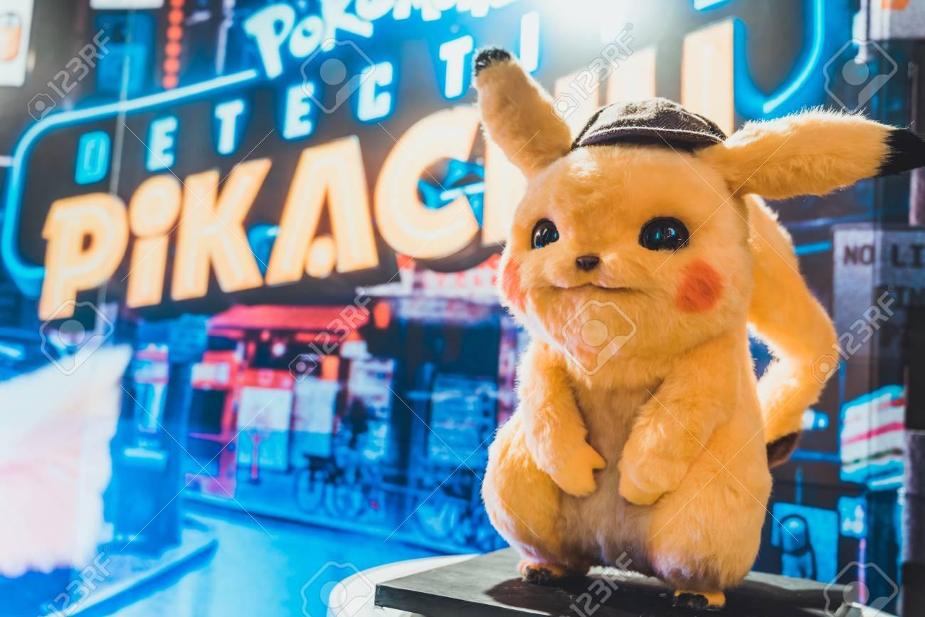 Bangkok Thailand May 2 2019 Pikachu Doll Display By Pokemon