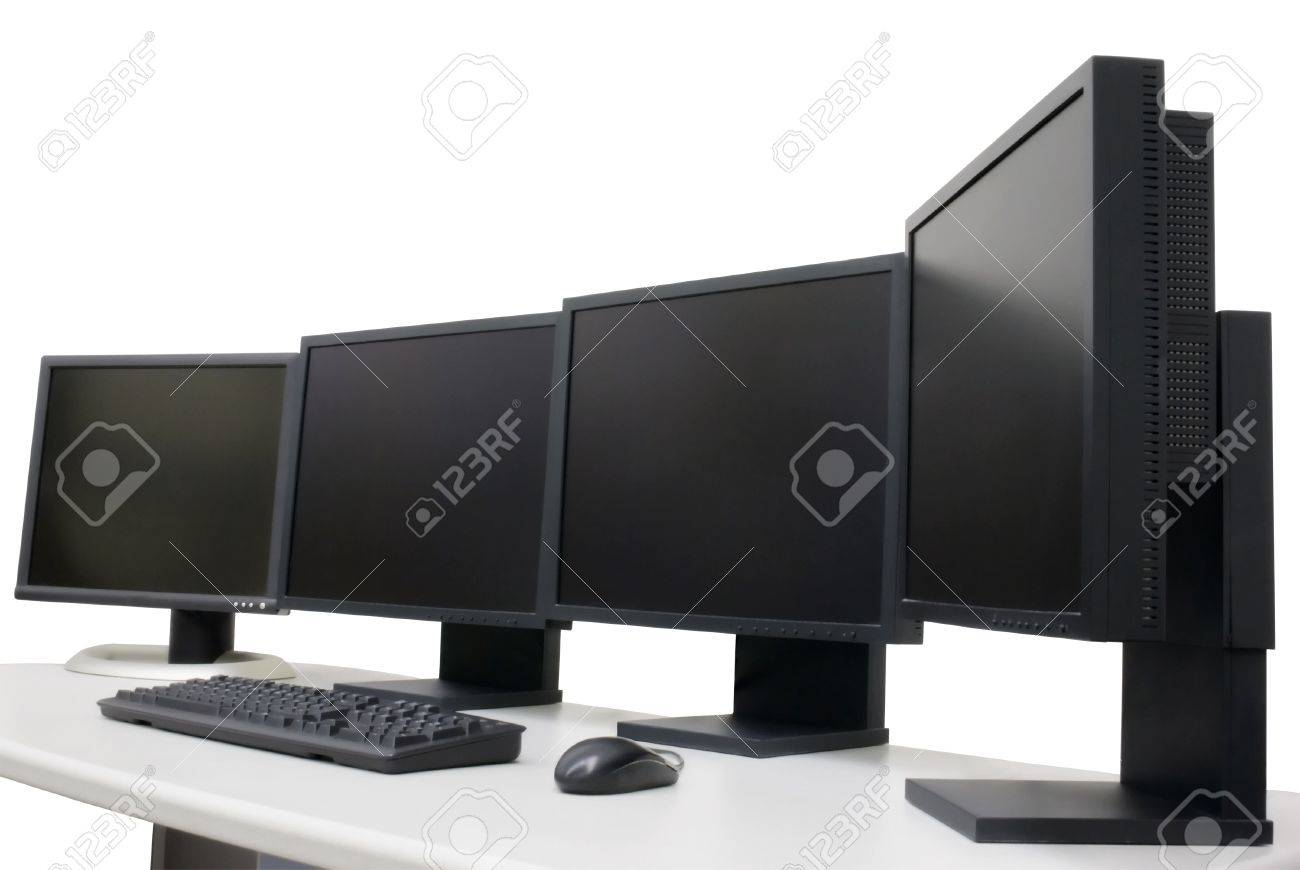 Several monitor in office - 10622176