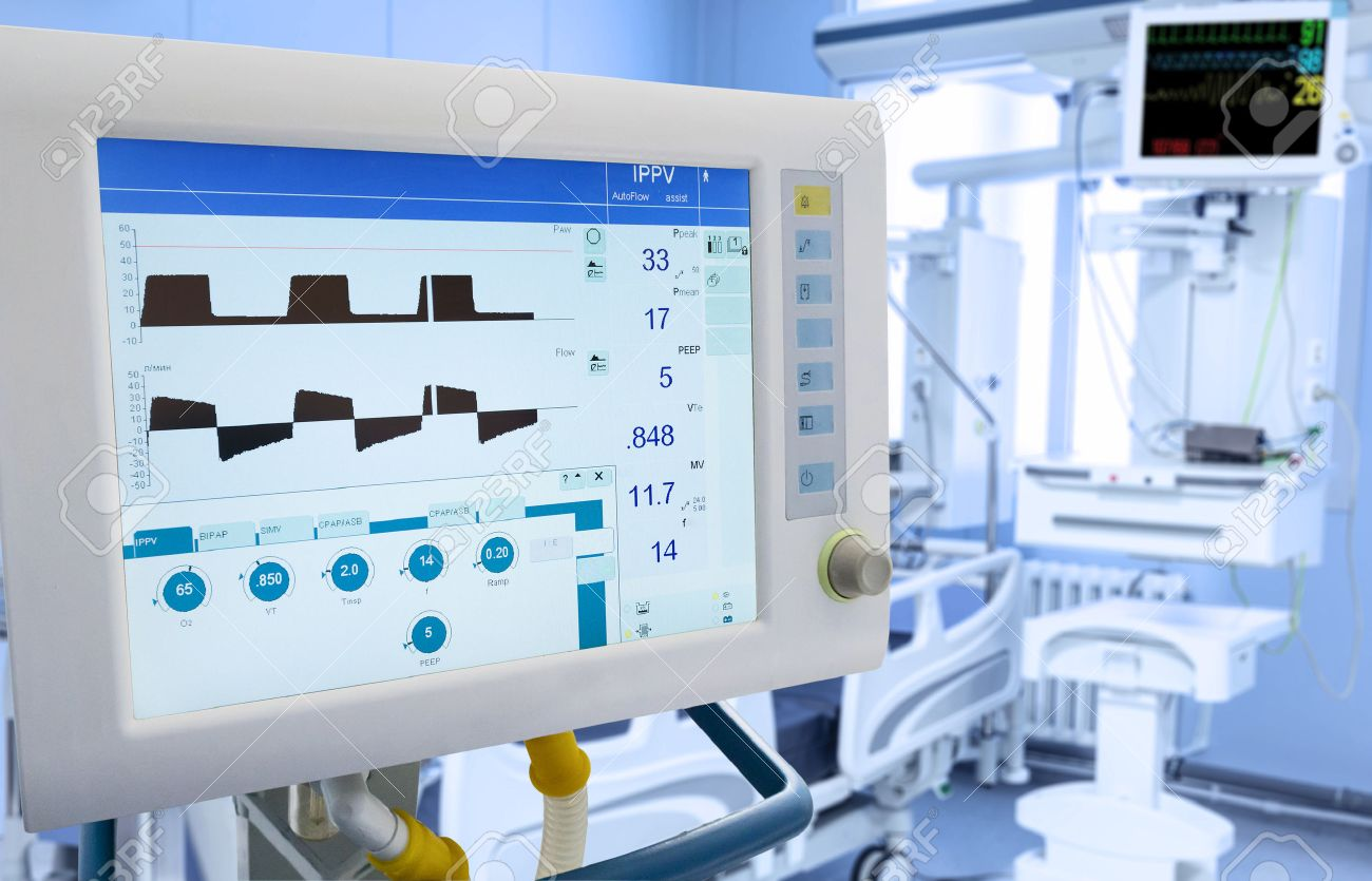 Mechanical Lung ventilation in intensive care unit - 56788942