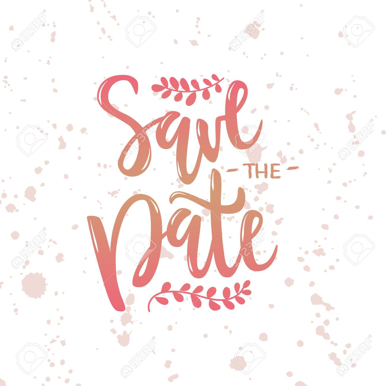 A Vector Illustration Of Save The Date Text With Background For - Save the date text template