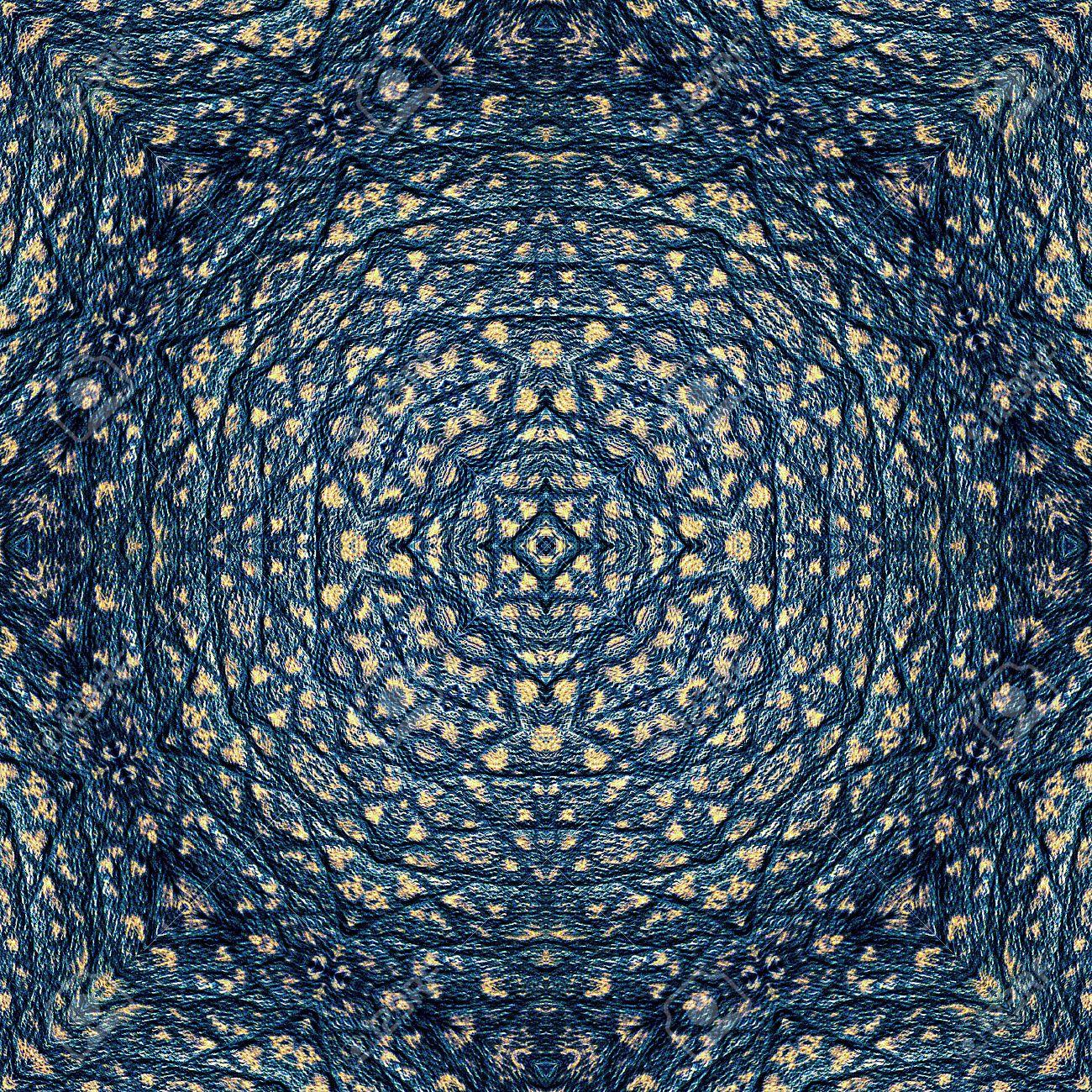 Resume Motif Bleu Ressemblant Tapis Oriental Avec Motif Ornemental