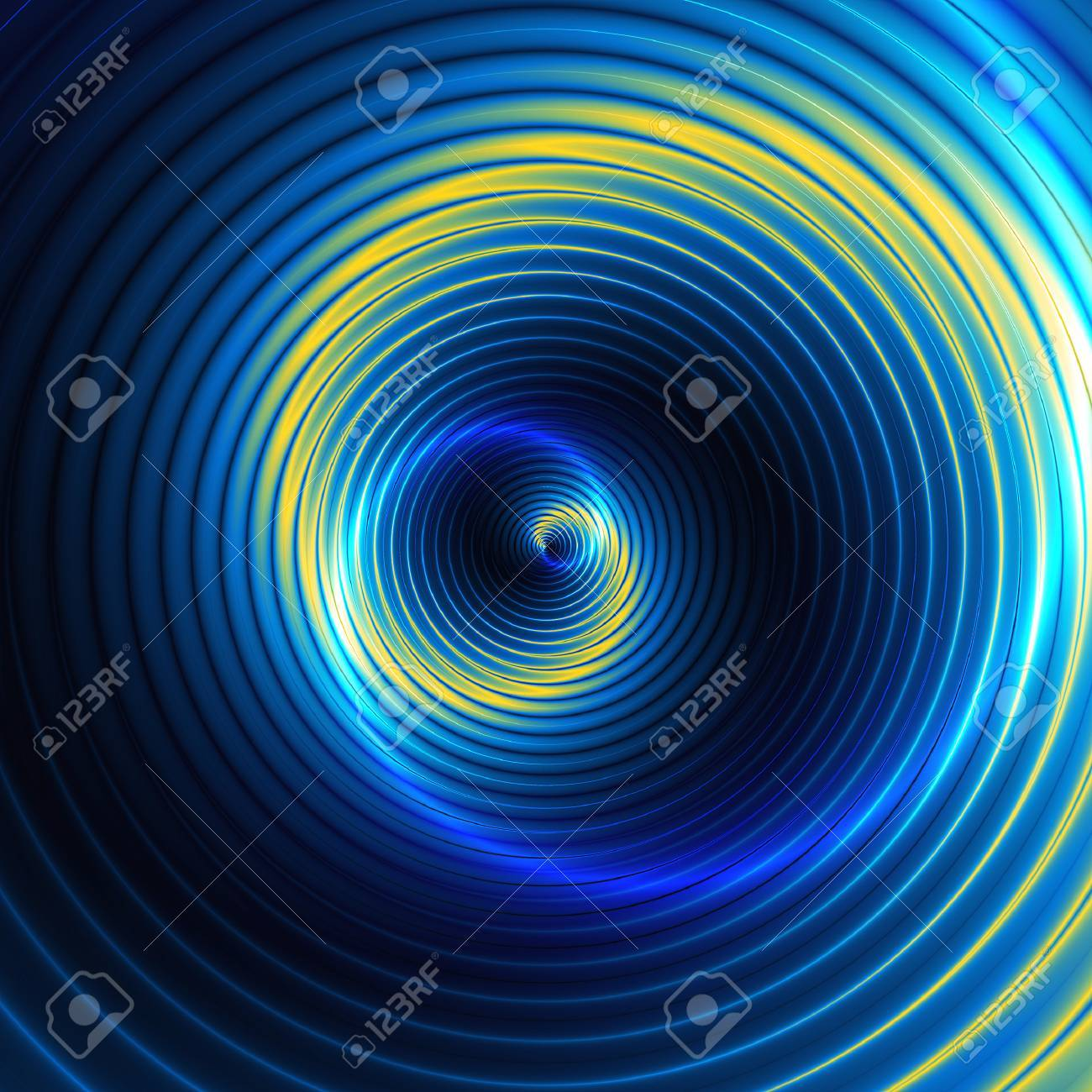 Abstract Background Of Swirling Concentric Circles Creating An Illusion Of  Movement Stock Photo   44195881