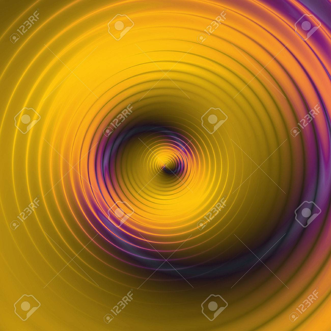 Abstract Background Of Circular Concentric Spirals Creating An Illusion Of  Movement Stock Photo   51655427