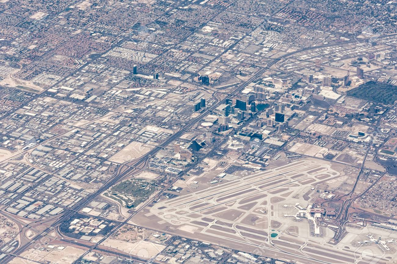 Aerial View Of Las Vegas, Nevada Stock Photo, Picture And Royalty Free  Image. Image 84170510.