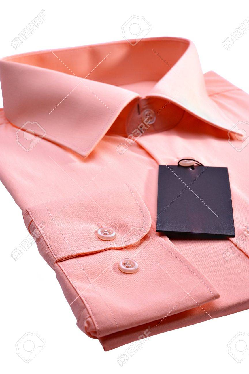 Man's shirt isolated on a white background Stock Photo - 9239644
