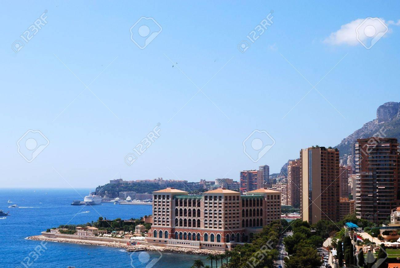 Monaco and mediterranean sea panoramic view Stock Photo - 4997275
