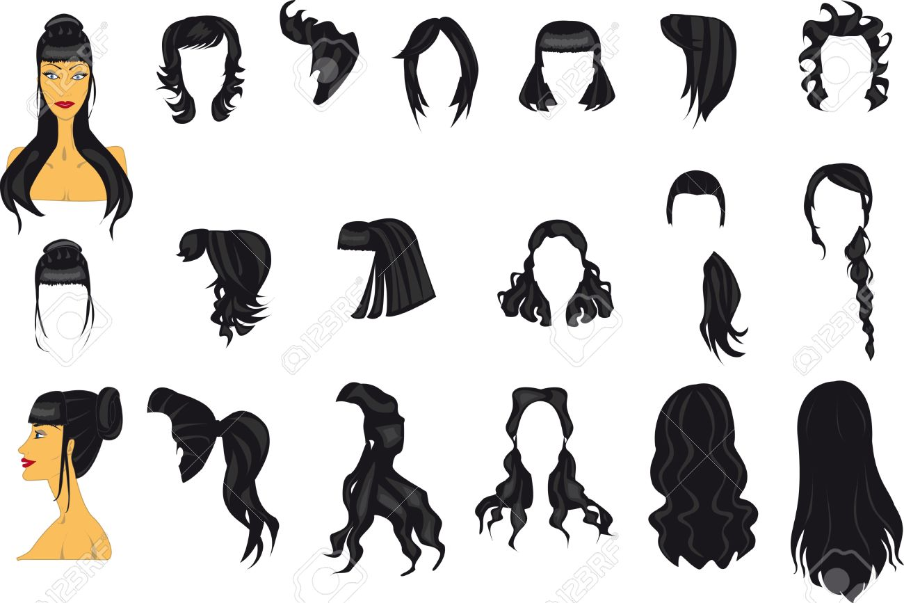 hairstyles template royalty free cliparts vectors and stock