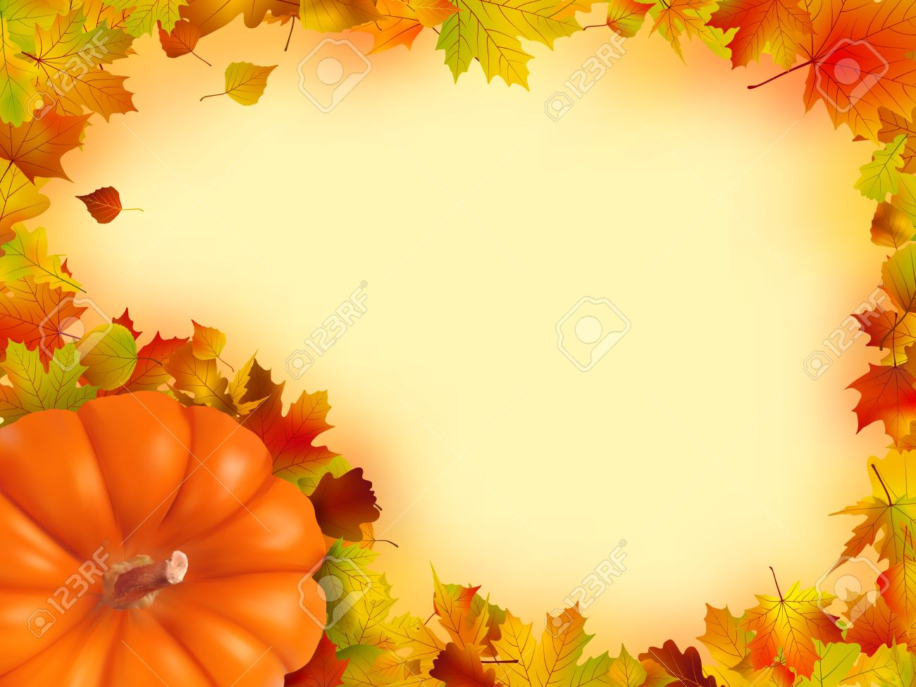 Thanksgiving Holiday Frame. Stock Photo, Picture And Royalty Free ...