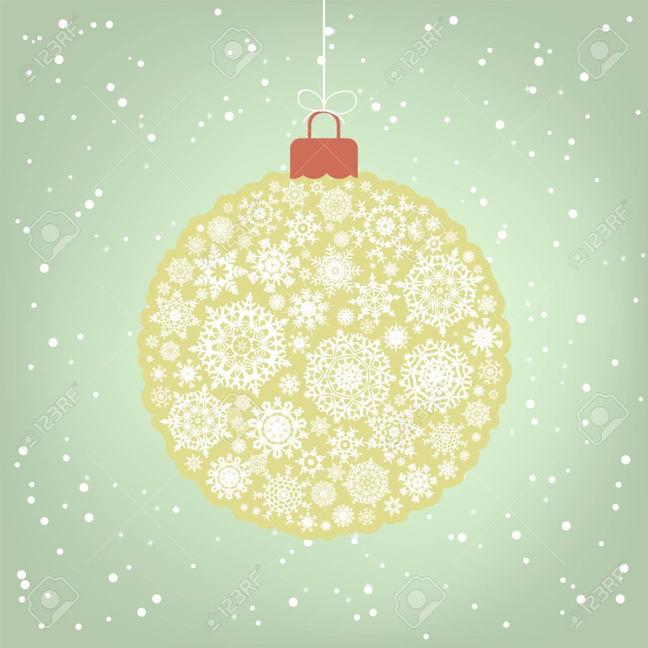 Retro template - Beautiful Christmas ball illustration. Stock Vector - 8315285