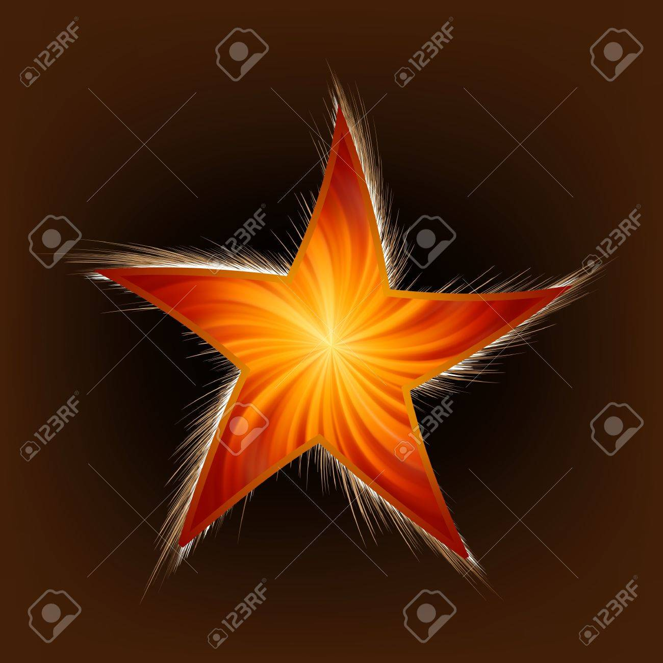 Star and Rays. Stock Vector - 8659384
