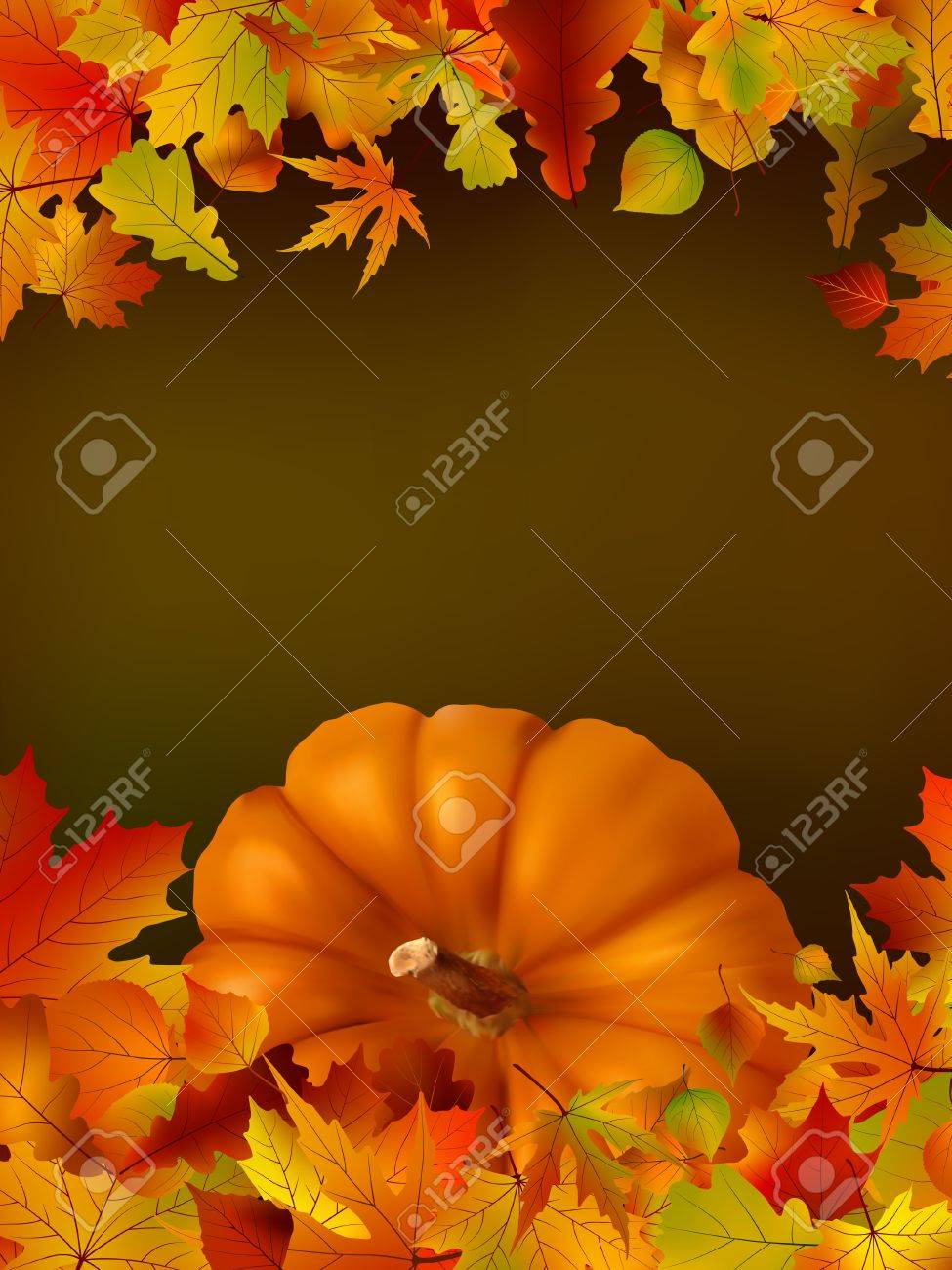 Thanksgiving template with copy space. EPS8. To see similar visit my portfolio Stock Vector - 9647902